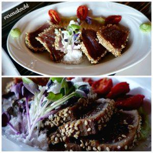 marinierter Thunfisch in Sesam mit Wasabi oben: 08.12.2016 unten: 25.12.2016