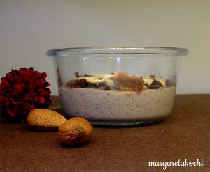 Frühstücksbrei - nussig-schokoladiger Bananen Porridge