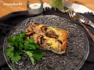 Frittata mit Pilzen & Nüssen