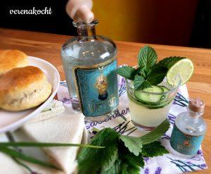 Gurken-Sandwich mit Gin-Tonic