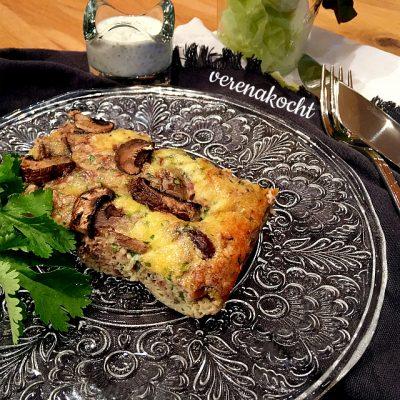 Frittata mit Pilzen & Nüssen (oder) das schnelle Mitte-der-Woche-Gericht