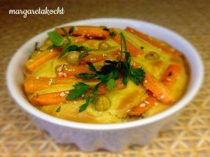 Veggie Tartelettes mit Karotte & Humus