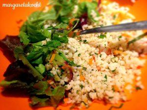 pikant scharfer Reis-Salat