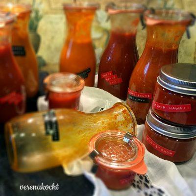 home-made Ketchup HAWAII (oder) vier Anläufe und ganz viel Erfahrung