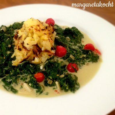 asisatisches Veggie-Gericht mit Mangold in Erdnuss-Sauce (oder) … wir wollen auch!!!