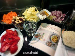 Gemüse Pilaw mit Nüssen