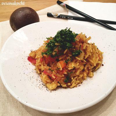 Gemüse Pilaw mit Nüssen (oder) So gut kann vegetarisch schmecken!