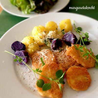 vegetarisches Schnitzerl von der Sellerie Pariser Art (und) Time to relax!