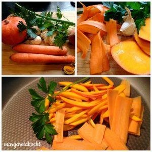 gesundes Ingwer-Süppchen mit gebratenem Gemüse (oder) Da hilft kein Jammern & Klagen!