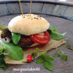 Burger mit Käsecreme