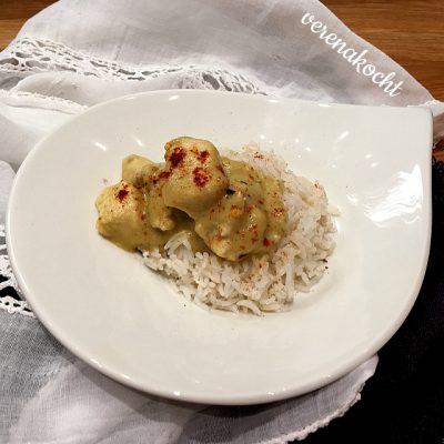Hühnchen in Madras Curry & Kokosmilch (oder) Wochenmitte giert nach Wochenstart