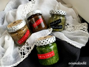Pesto - Steinpilz, Tomate, Walnuss & Basilikum