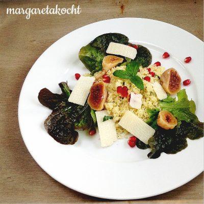 warmer Couscous Salat mit Feigen & Granatapfel (oder) 2018 wird eindeutig besser!