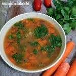 Fastensuppe => Bohnen Suppe mit Karotten und Bandnudeln