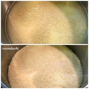 Couscous mit Spinat & Halloumi