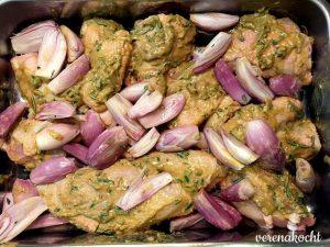 Rosmarin Senf Hühnchen mit Kürbis