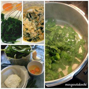 Spinat Nockerln mit Salbei Butter