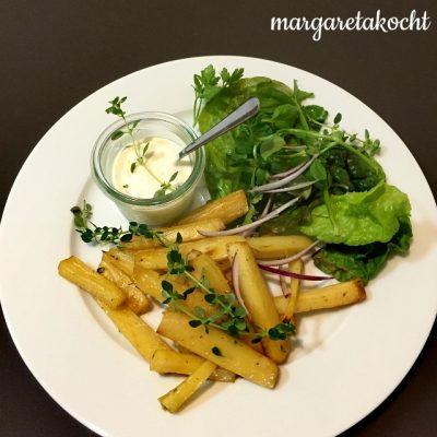 Pastinaken Chips aus dem Ofen (oder) Schmackofatz à la Margareta