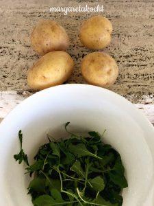 Rucola Kartoffel Suppe
