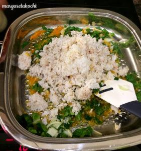 schnelle Spinat-Reis-Pfanne