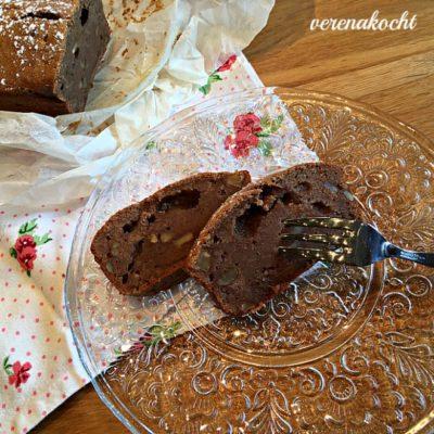 Bananen-Kuchen-Brot mit Schoko & Walnüssen (und) ich sage => Brot & Kuchen in einem!