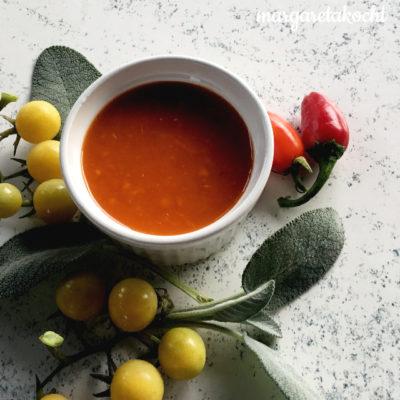 scharfe Tomaten 🍅 -Chili 🌶 -Suppe mit Salbei (oder) gewappnet für kühlere ❄ Tage!