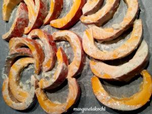 köstliches Kürbis Masala auf Lupinenschrot