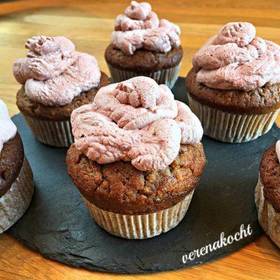 gesunde Karotten Schoko Muffins (oder) Gemüse im Kuchen geht gar nicht!