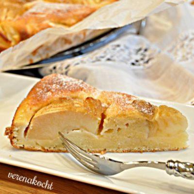 Apfelkuchen mit Topfen und Apfel-Nuss-Marmelade (oder) Apfelkuchen vom Feinsten!