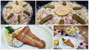 Französischer Gemüse Mayonnaise Salat