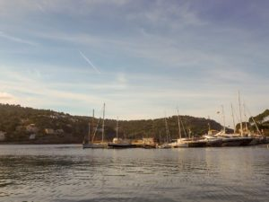 Sonnenuntergang im Hafen von Port de Sóller