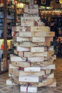 Weihnachten in einem Delikatessen Geschäft