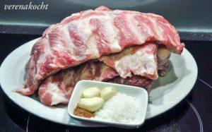Schweineripperln Asian Style