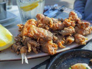 frittierte Baby Calamari