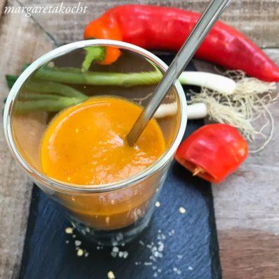 cremige Suppe vom roten Paprika (und) Ich liebe den Frühling!