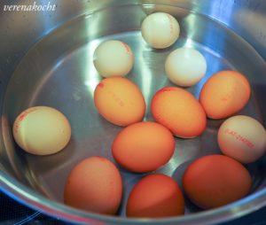 eingelegte Gewürz-Eier
