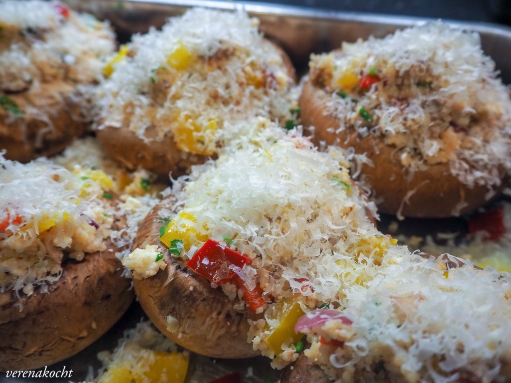 gefüllte Portobello Pilze