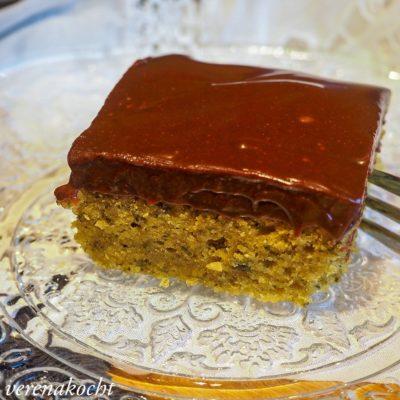 Kürbis Joghurt Kuchen mit Schoko-Ganache (und) kommen, informieren, kosten => backen