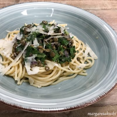 Pasta mit Berglinsen & Mangold (und) Monatsmitte am Wochenanfang