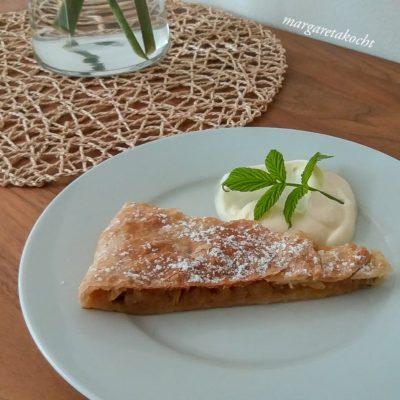 Apfel Tarte vom home-made Blätterteig (und) Fallobst ver- & einkochen => #zerowaste