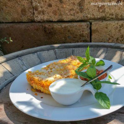 vegetarisches Risoni Karotten Gratin (und) Es geht gar nix!