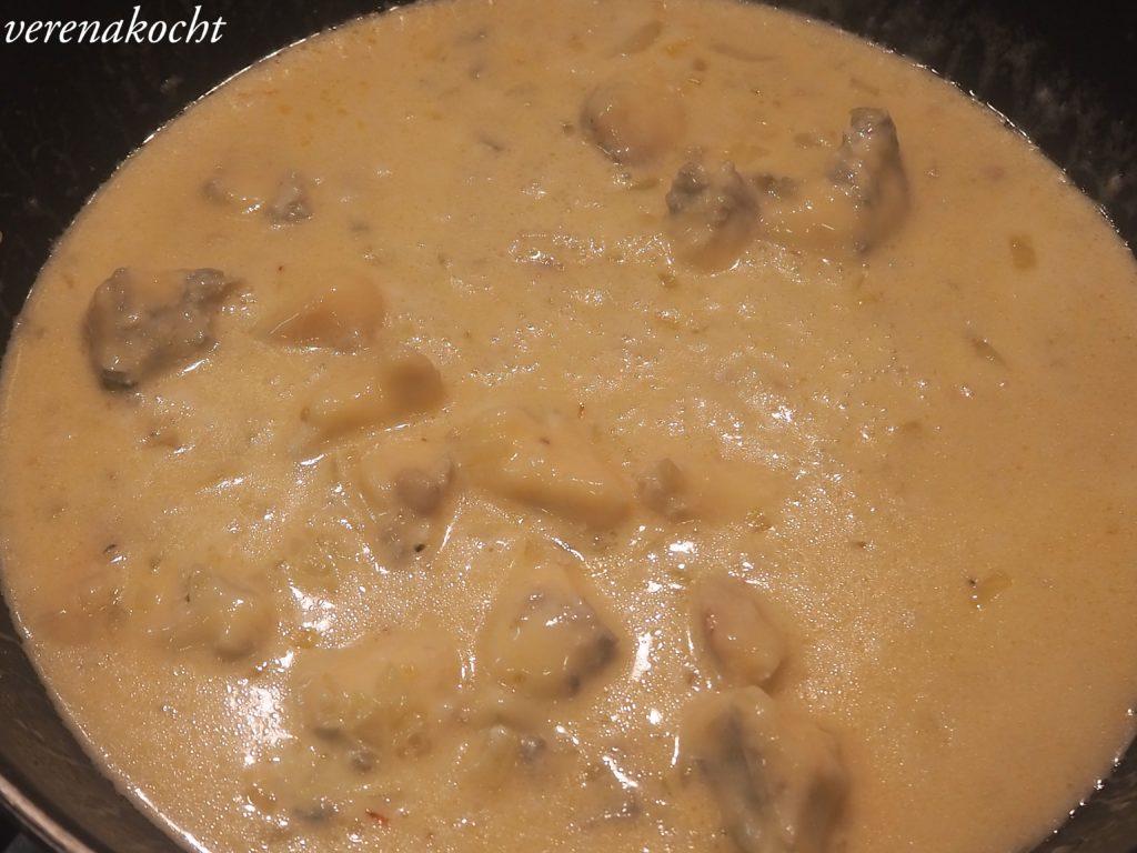 Gorgonzola Pasta mit Radicchio & karamellisierten Walnüssen