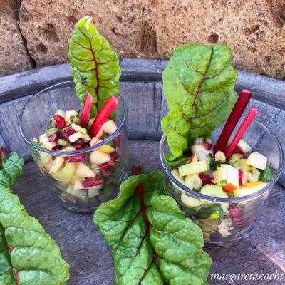 knackig erfrischender Mangold Rohkost Salat (oder) #zerowaste à la Margareta