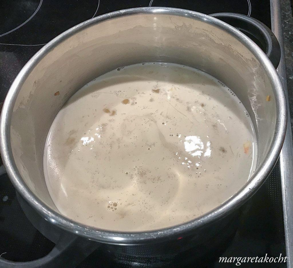 köstliche Schaumwein Suppe