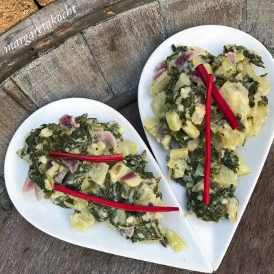 schnelles Mangold Gemüse mit Ricotta (und) Hauptspeise oder Beilage? Was meint ihr?