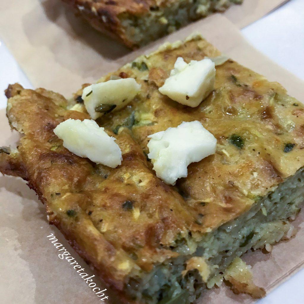 türkischer Zucchini Kuchen mit Feta