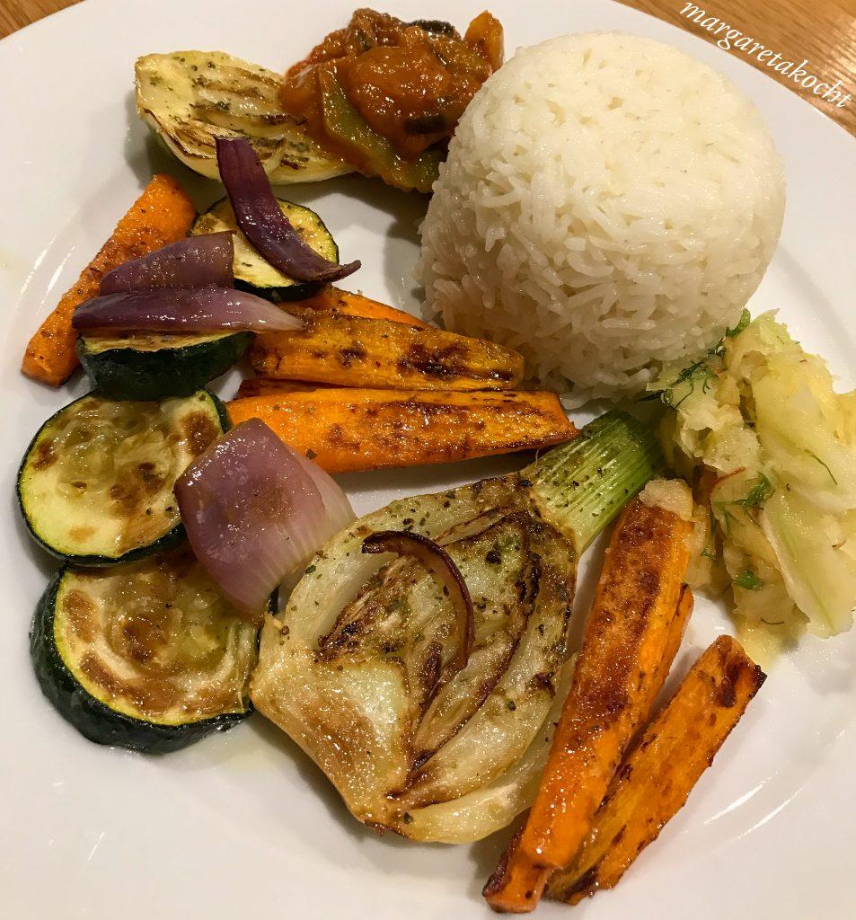 geröstetes Gemüse der Saison