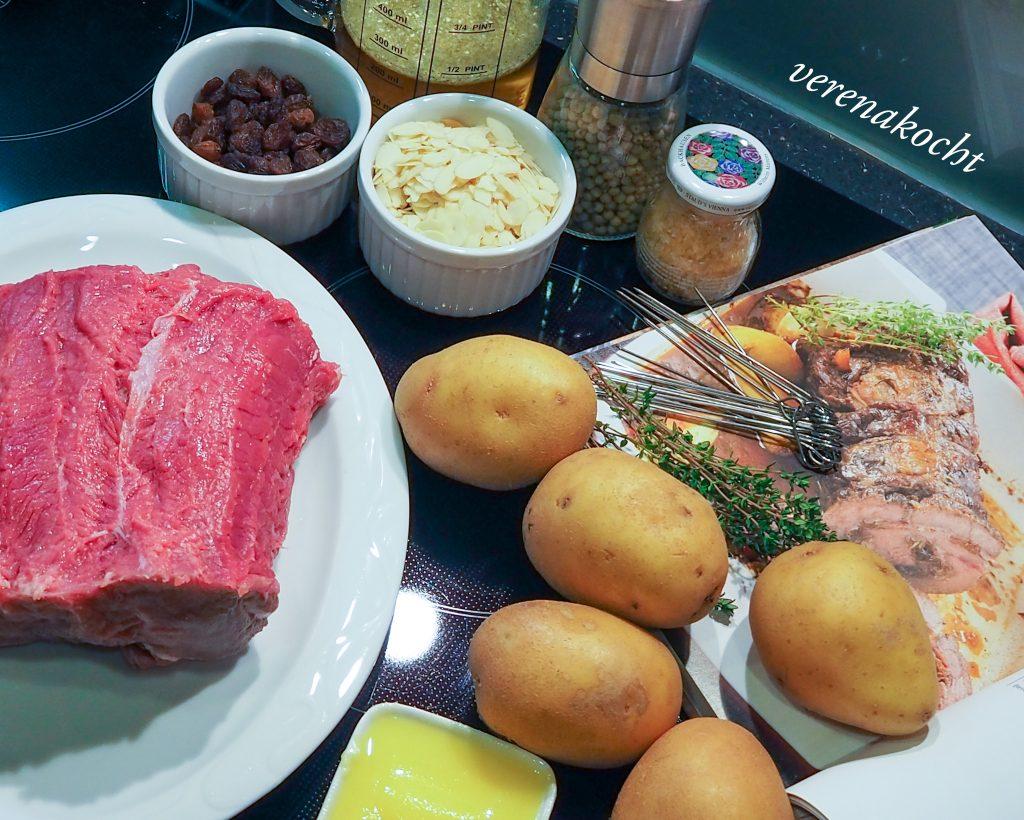 Festtagsbraten mit Speck & Mandeln