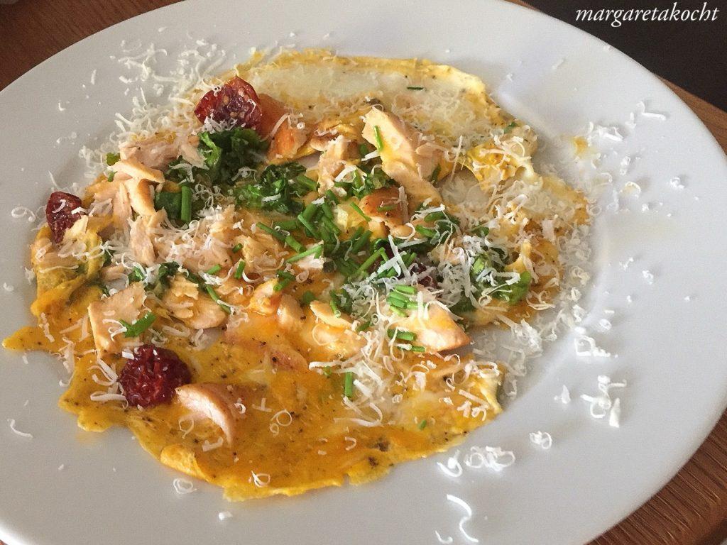 Omelette mit Lachs(resten)