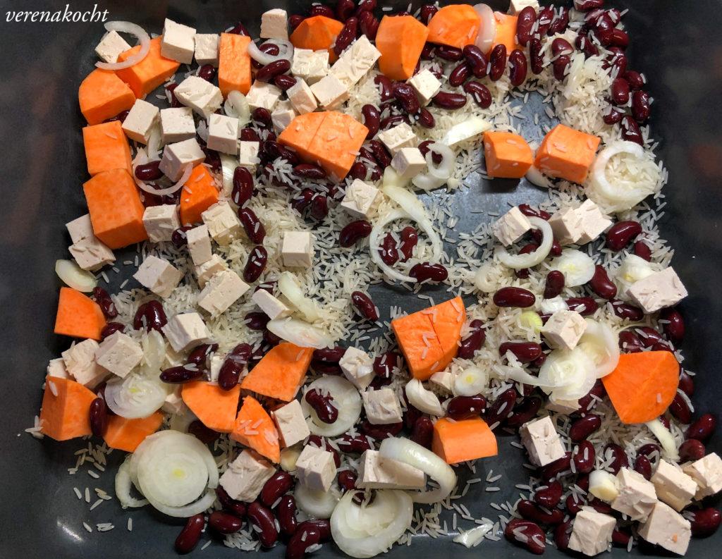 Süßkartoffelreis mit Bärlauch & gerösteten Erdnüssen
